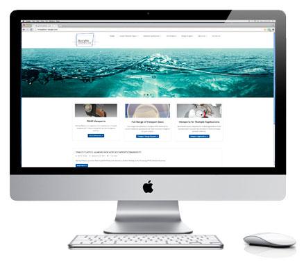 Acrylic Viewports Website Displayed On An iMac